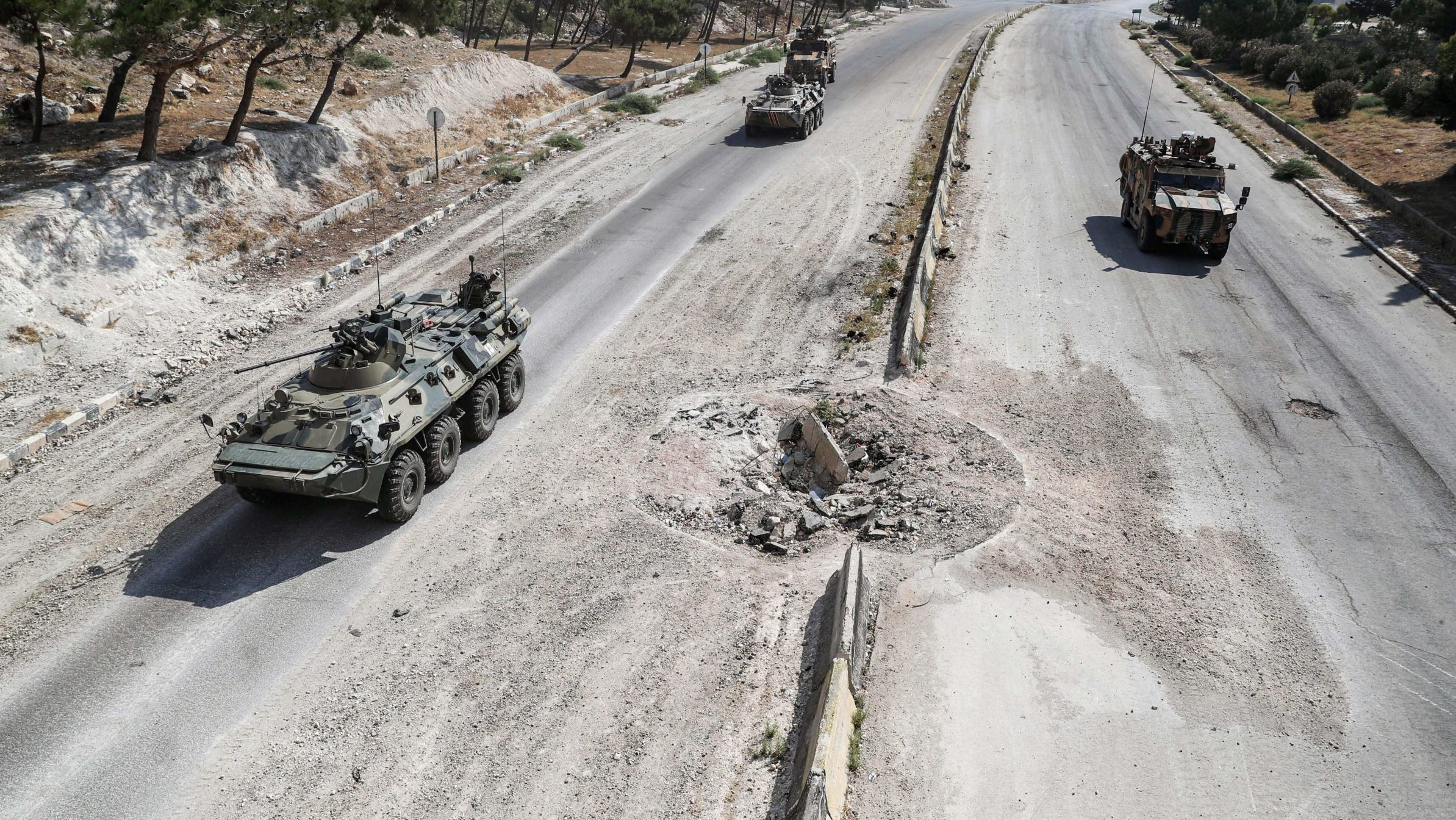 Russia Answers Idlib Roadside Bombing with Airstrikes